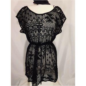 H&M Black Bikini Coverup Dress